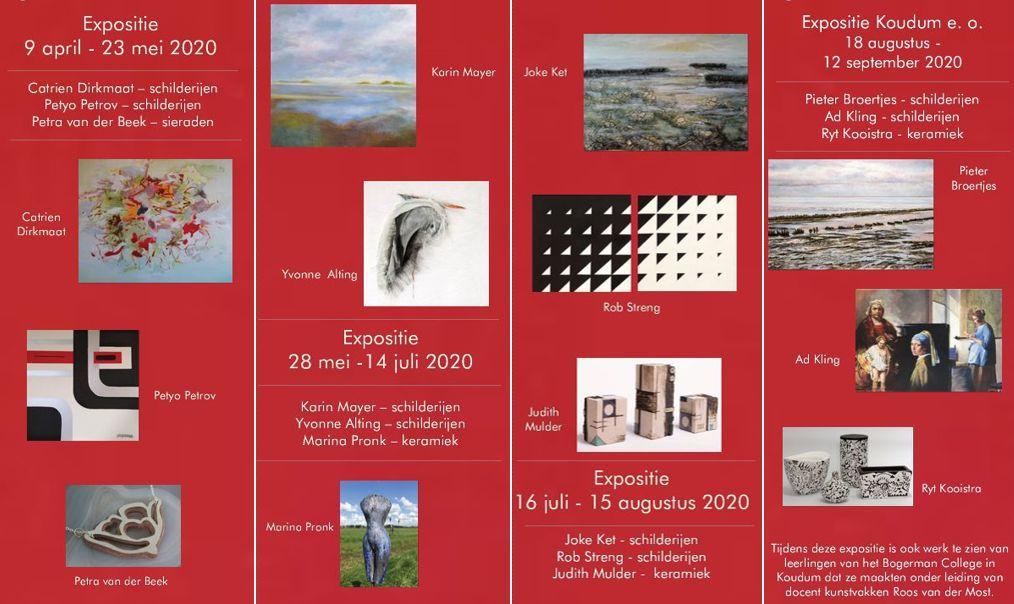 folder exposities galerie Lytse Skientme 2020
